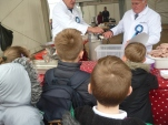 Tasting pork, veal and fruit and watching sausages being made